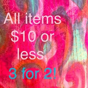Bundle 3 items $10 or less & get lowest item free!